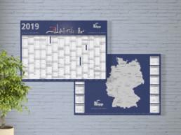 Team Kipp Referenz Vorschaubild zweiseitiger Wandkalender 2019 Heinrich Kipp Werk