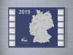 Team Kipp Referenz Beitragsbild zweiseitiger Wandkalender 2019 Heinrich Kipp Werk