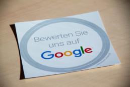 Google Aufkleber Bewerten Sie uns auf Google